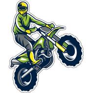 Наклейка Езда на заднем колесе, фото 1