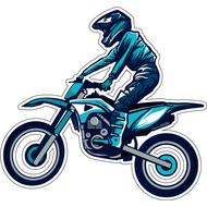 Наклейка Мотоциклист, фото 1