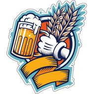 Наклейка Пиво и пшеница, фото 1