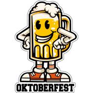 Наклейка Кружка пива в кедах, фото 1