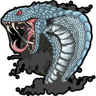 Наклейка Голубая кобра-002, фото 1