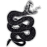 Наклейка Скрученная змея-007, фото 1