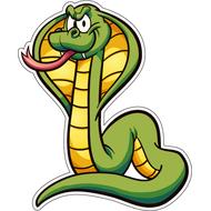 Наклейка Мультяшный зеленый змей, фото 1