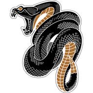 Наклейка Гремучая змея в клубке, фото 1
