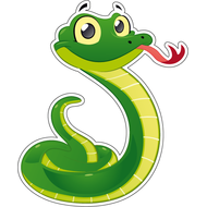 Наклейка Смешной зеленый змей, фото 1
