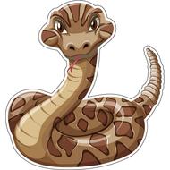 Наклейка Добрая гремучая змея, фото 1