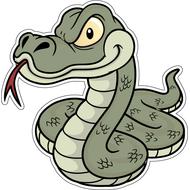 Наклейка Подозрительный змей-019, фото 1