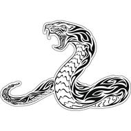 Наклейка Змея узорная-022, фото 1
