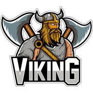 Наклейка Викинг с топорами, фото 1