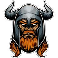 Наклейка Викинг в железном шлеме, фото 1