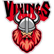 Наклейка Викинг в шлеме с рогами, фото 1