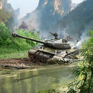 Постер Танк в болоте, фото 1