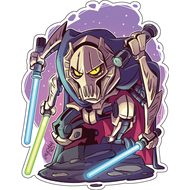 Стикер Star Wars Генерал Гривус, фото 1