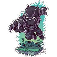 Стикер Marvel Черная Пантера, фото 1