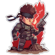 Стикер Metal Gear Solid Snake, фото 1