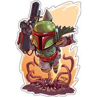 Стикер Star Wars Боба Фетт, фото 1