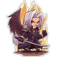 Стикер Final Fantasy Сефирот, фото 1