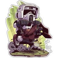Стикер Star Wars Scout Trooper, фото 1