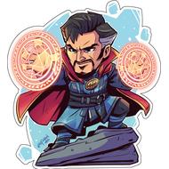 Стикер Marvel Доктор Стрейндж, фото 1