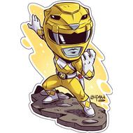 Стикер Power Rangers Желтый Рейнджер, фото 1