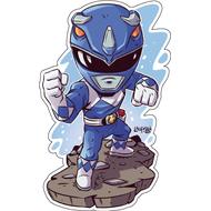 Стикер Power Rangers Синий Рейнджер, фото 1