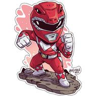 Стикер Power Rangers Красный Рейнджер, фото 1