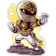 Стикер Power Rangers Белый Рейнджер, фото 1