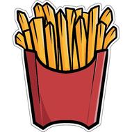Наклейка картошка фри, фото 1