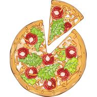 Наклейка Пицца вегетарианская, фото 1