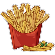 Наклейка Картошка фри в красной коробке, фото 1