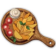 Наклейка Картофель по деревенски с помидорами и соусом, фото 1