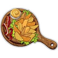 Наклейка Картофель по деревенски с беконом и горчецей, фото 1