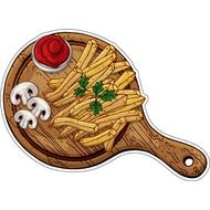 Наклейка Картошка фри с грибочками и кетчупом, фото 1