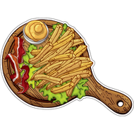 Наклейка Картошка фри с беконом и горчицей, фото 1