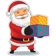 Наклейка Санта с подарками, фото 1