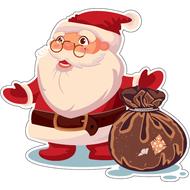 Наклейка Санта с мешком, фото 1