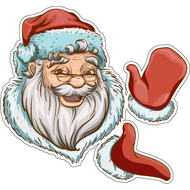 Наклейка Санта хлопает, фото 1