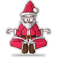 Наклейка Санта йога, фото 1