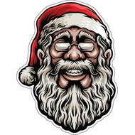 Наклейка Санта в очках, фото 1