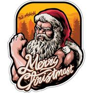 Наклейка Брктальный Санта, фото 1