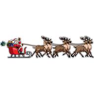 Наклейка Санта на оленях, фото 1