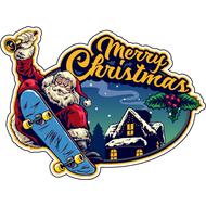 Наклейка Санта на скейте, фото 1