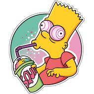 Наклейка Барт Симпсон под кайфом-085, фото 1