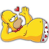 Наклейка Гомер соблазнитель-088, фото 1