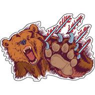 Наклейка Разъяренный медведь, фото 1