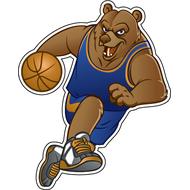 Наклейка Медведь волейболист, фото 1