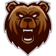 Наклейка Злой Медведь, фото 1