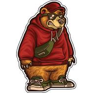 Наклейка Медведь в кедах, фото 1