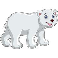 Наклейка Белый медвежонок, фото 1