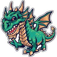 Наклейка Дракон-069, фото 1